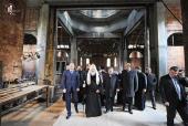 Святейший Патриарх Кирилл ознакомился с ходом строительства храма свв. Космы и Дамиана в Калининграде