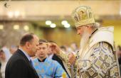 В канун праздника Покрова Пресвятой Богородицы Святейший Патриарх Кирилл совершил всенощное бдение в кафедральном соборе Христа Спасителя г. Калининграда