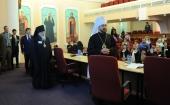 Митрополит Волоколамский Иларион открыл конференцию, посвященную участию государственных и религиозных организаций в борьбе со СПИДом и наркозависимостью