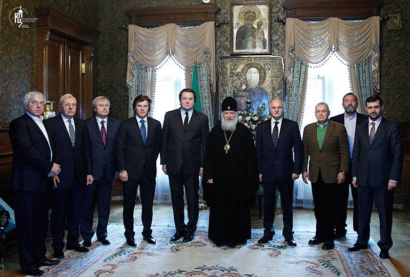 Встреча Святейшего Патриарха Кирилла с руководителями российских телеканалов