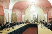 Святейший Патриарх Кирилл встретился с участниками российско-итальянского симпозиума по этическим аспектам банковской деятельности