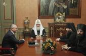 Святейший Патриарх Кирилл встретился с президентом компании ГМК «Норильский никель» А.А. Клишасом