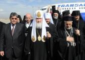 Начался официальный визит Святейшего Патриарха Кирилла в Антиохийский Патриархат