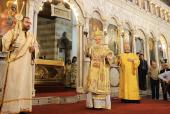 Предстоятели Антиохийской и Русской Православных Церквей совершили Божественную литургию в кафедральном Успенском соборе Дамаска