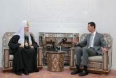 Состоялась встреча Святейшего Патриарха Кирилла с Президентом Сирии Башаром Асадом