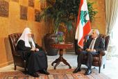 Святейший Патриарх Московский и всея Руси Кирилл встретился с Президентом Ливана
