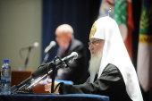 Предстоятель Русской Православной Церкви выступил перед преподавателями и учащимися Баламандского университета