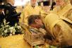 Всенощное бдение в Храме Христа Спасителя в канун празднования 65-летия Предстоятеля Русской Церкви