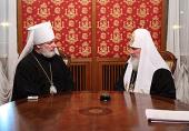 Состоялась беседа Предстоятеля Русской Церкви с Блаженнейшим Митрополитом Чешских земель и Словакии Христофором