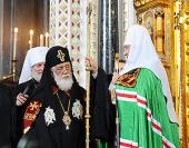 Поздравление Святейшему Патриарху Кириллу от Святейшего и Блаженнейшего Католикоса-Патриарха Илии II с 65-летием со дня рождения