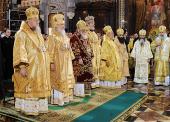 В день празднования 65-летия Предстоятеля Русской Церкви в Храме Христа Спасителя совершена Божественная литургия
