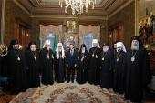 Состоялась встреча Президента России с Предстоятелями и представителями Поместных Православных Церквей, прибывшими на торжества по случаю 65-летия Святейшего Патриарха Кирилла