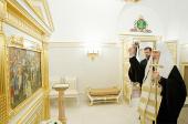 Предстоятель Русской Церкви совершил освящение Патриарших палат в Московском Кремле