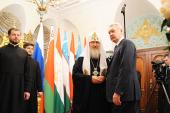 В Храме Христа Спасителя прошел прием по случаю 65-летия со дня рождения Предстоятеля Русской Церкви