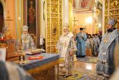 Святейший Патриарх Кирилл совершил Божественную литургию в Покровском монастыре г. Москвы и возглавил хиротонию архимандрита Иринея (Тафуни) во епископа Орского и Гайского