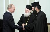 Председатель Правительства России встретился с членами делегации афонского Ватопедского монастыря, сопровождающей Пояс Пресвятой Богородицы в России