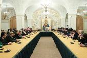 Предстоятель Русской Церкви встретился с участниками международной конференции «Свобода вероисповедания: проблема дискриминации и преследования христиан»