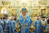 Патриаршее служение в Большом соборе Донского монастыря в праздник...