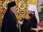 Представителю Антиохийского Патриарха при Патриархе Московском и всея Руси вручена высокая награда Русской Церкви