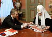 Беседа Святейшего Патриарха Кирилла с Уполномоченным по правам ребенка П.А. Астаховым