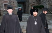 Митрополит Волоколамский Иларион прибыл на Святую Гору Афон
