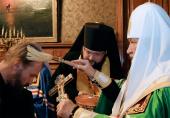 Святейший Патриарх Кирилл возглавил чин наречения архимандрита Стефана (Гордеева) во епископа Алатырского, викария Чебоксарской епархии