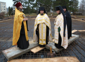 Возобновлено строительство храма в Свято-Георгиевском мужском монастыре в Гётшендорфе (Германия)