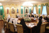 В Синодальной резиденции в Даниловом монастыре началось очередное заседание Священного Синода Русской Православной Церкви