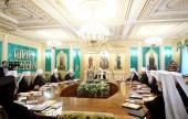 Священный Синод завершил первый день работы в обновленной резиденции Патриарха Московского и всея Руси в Даниловом монастыре