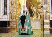 Проповедь Святейшего Патриарха Кирилла в неделю 29-ю по Пятидесятнице, пред Рождеством Христовым, в Храме Христа Спасителя