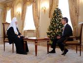 В праздник Рождества Христова на телеканале «Россия-1» выйдет в эфир интервью Святейшего Патриарха Кирилла