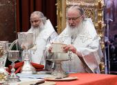 В Рождественский сочельник Предстоятель Русской Церкви совершил Литургию св. Василия Великого в Храме Христа Спасителя