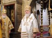 Проповедь Предстоятеля Русской Церкви в неделю по Рождестве Христовом в Успенском соборе Московского Кремля
