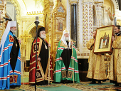 Слово Святейшего Патриарха Кирилла в неделю по Богоявлении после Божественной литургии в Храме Христа Спасителя