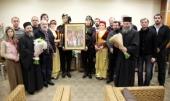 В Москву принесена икона новомучеников и исповедников Эллады, Кипра, Малой Азии и Понта, написанная на Афоне в дар Русской Православной Церкви
