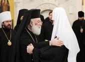 Состоялась братская беседа Предстоятеля Русской Православной Церкви с Блаженнейшим Патриархом Александрийским Феодором
