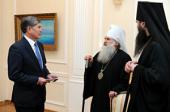 Глава Среднеазиатского митрополичьего округа встретился с Президентом Киргизии