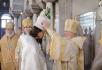 Патриаршее служение в храме прп. Пимена Великого в Новых Воротниках. Хиротония архимандрита Ефрема (Просянка) во епископа Бикинского
