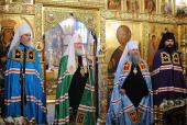 Слово Предстоятеля Русской Церкви после Божественной литургии в храме Живоначальной Троицы в Старых Черемушках