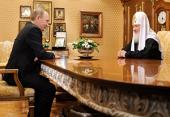 Стенограмма начала встречи Святейшего Патриарха Кирилла с председателем Правительства РФ В.В. Путиным 1 февраля 2012 года