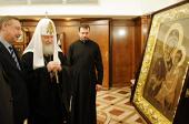 В Храме Христа Спасителя состоялось поздравление Святейшего Патриарха Кирилла с третьей годовщиной интронизации