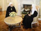Состоялась встреча Предстоятеля Русской Православной Церкви с Первоиерархом Русской Зарубежной Церкви