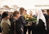 В Храме Христа Спасителя состоялся прием по случаю третьей годовщины интронизации Святейшего Патриарха Кирилла