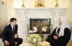 Встреча Святейшего Патриарха Кирилла с министром связи и массовых коммуникаций Российской Федерации И.О. Щеголевым