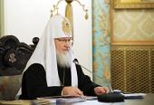 Святейший Патриарх Кирилл возглавил работу очередного заседания Высшего Церковного Совета Русской Православной Церкви
