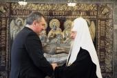 Состоялась встреча Святейшего Патриарха Кирилла с заместителем председателя Правительства Российской Федерации Д.О. Рогозиным
