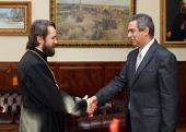 Председатель Отдела внешних церковных связей встретился с послом Кубы в России