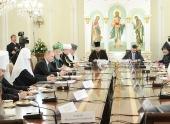 Святейший Патриарх Кирилл принял участие во встрече председателя Правительства РФ В.В. Путина с руководителями традиционных религиозных общин России