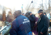 При участии Русской Православной Церкви организованы полевые кухни и пункты обогрева бездомных