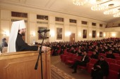 Митрополит Волоколамский Иларион выступил с лекцией в Московской духовной академии и встретился с членами профессорско-преподавательской корпорации